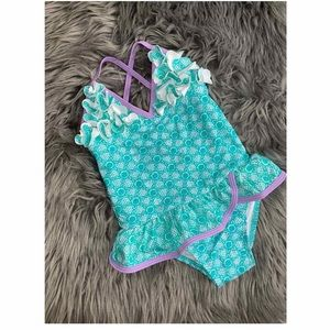 Pink Platinum  Flower Flounced swimsuit (NWT)